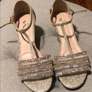 Shoes - Wedge sparkly heels!